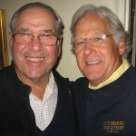 The author Randy Weiss, right, and Bob Dinaberg