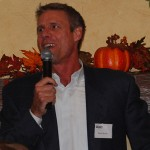 Karch Kiraly spoke to the Athletic Round Table and guests at the University Club.