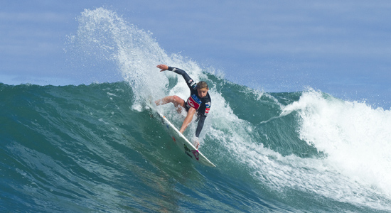 Santa Barbara's Lakey Peterson took advantage of the familiar right-hand break to win two heats on Thursday, advancing to the girls Under-18 finalat the ISA World Junior Surfing Championship in New Zealand.