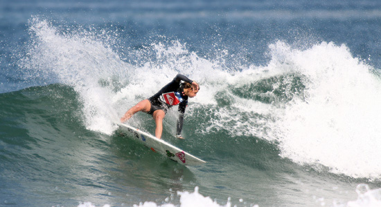 Santa Barbara's Lakey Peterson competing on the final day of the ISA World Junior Surfing Championships. (ISA Photo)