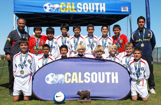 Santa Barbara Soccer Club's Under-12 boys team