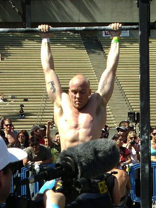 Traver Boehm, co-owner of CrossFit Pacific Coast, competes at the Sectionals.