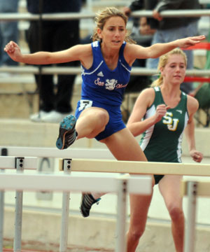 San Marcos' Christine Khalil in the girls 100-meter hurdles