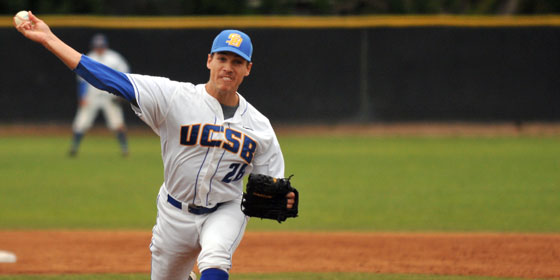 UCSB's Jesse Meaux earned the victory from the mound in the first game of a double header on Saturday