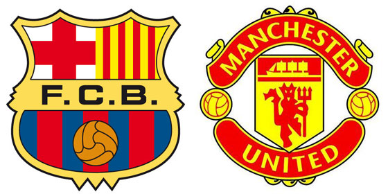Barcelona and Manchester U face off starting at 11:30 a.m. local time in Santa Barbara on Saturday