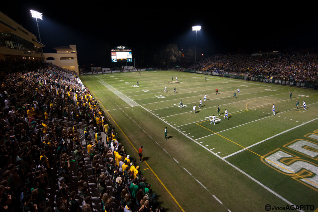 UCSB and Cal Poly played before a packed house at Poly's Spanos