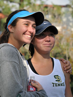 Garrison sisters: Senior Aurora, left, and freshman Summer, right.