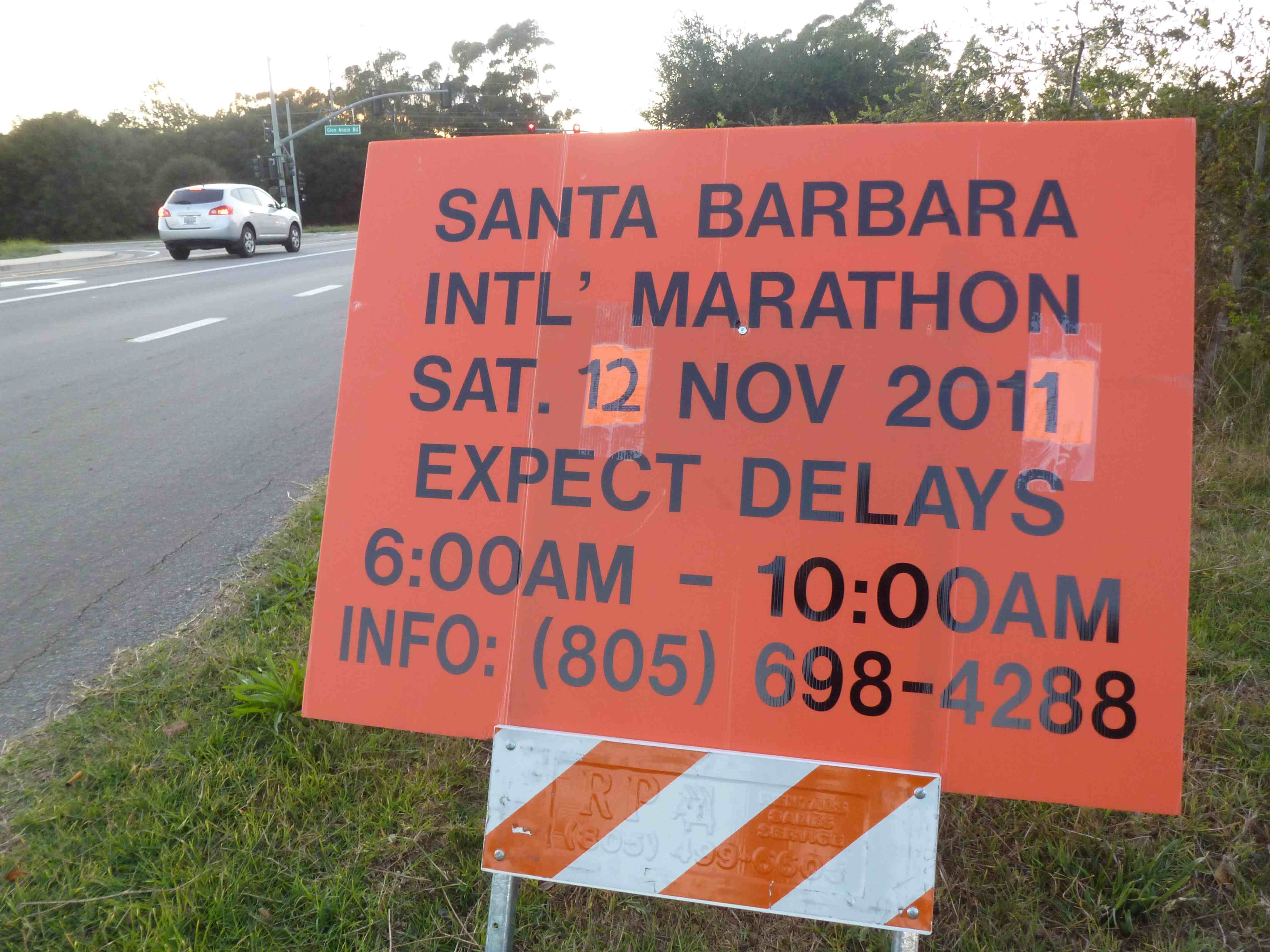 Marathon sign WeissCrax: Cant stop fever to do SB Half Marathon