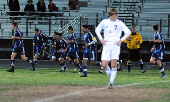 SM goal Halls strike gives San Marcos tough victory over DP