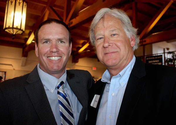 Current SBART president Rich Hanna, left, with Santa Barbara Bank & Trust's Randy Weiss
