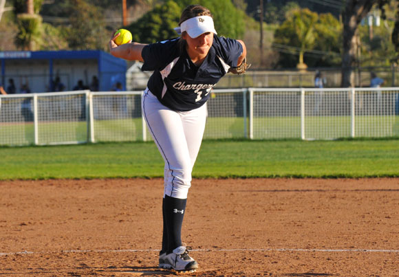 Hannah Harris threw her first ever no-hitter against Santa Barbara on Tuesday