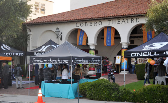 Not only was the event by Sundance Beach free to attend, but event sponsors took over the Lobero lawn and red carpet area to give-away lots of free gear.