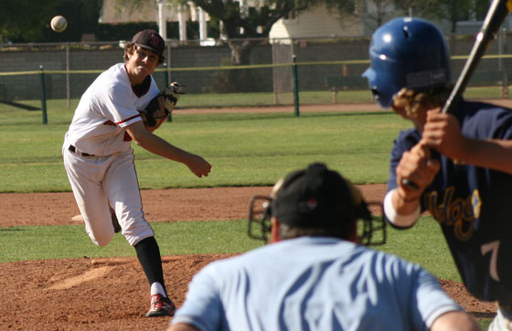 Santa Barbara City College's Lucas Benenati was Thursday's winning pitcher. (Jeanise Eaton Photos)