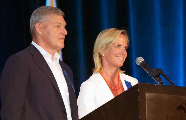 Bill and Kristi Parrish were inducted into the Hall of Fame as Community Leaders.