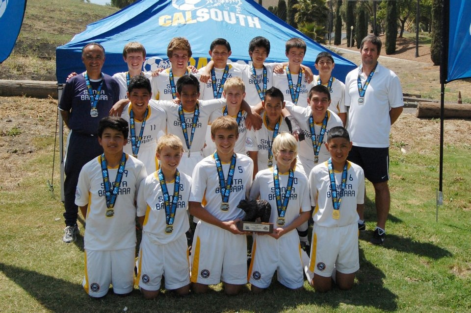 The Santa Barbara Soccer Club's Boys Under-14 White won the Cal South National Cup championship. The team won seven matches in the tournament.