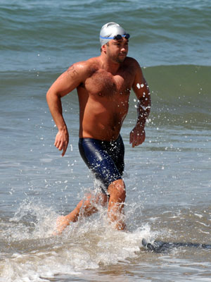 Evan Morrison Morrison takes a beating but completes channel swim in record time