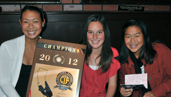 Carp Tennis CIF plaque comes with Warriors to SBART luncheon