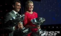 2012 World Champions Joel Parkinson and Stephanie Gilmore at last night's ASP Awards Banquet. (ASP Photo)