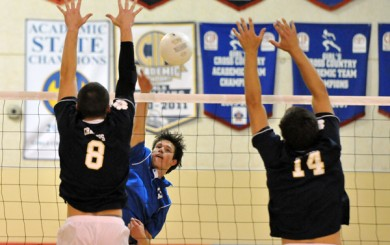 San Marcos vs. Dos Pueblos boys volleyball - March, 2013