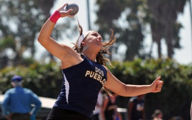 Stamatia Scarvelis of Dos Pueblos is the No. 1 high school girls shot putter in the nation.