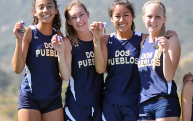 Dos Pueblos' 4x400 relay took first place at the Santa Barbara County Track & Field Championships.