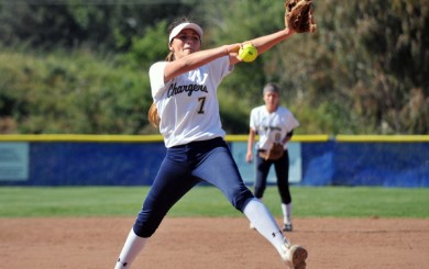 Dos Pueblos' Lani Evans makes a delivery to the plate during Thursday's win over San Marcos. (Presidio Sports Photo)
