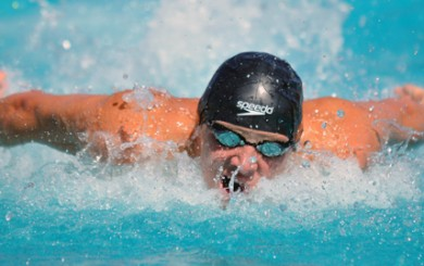 Dos Pueblos' Alex Valente won the 100 butterfly by over five seconds with a time of 48.65.