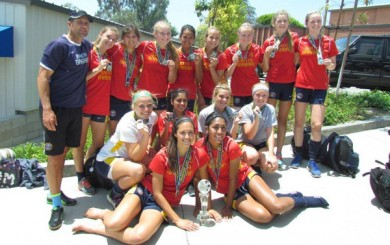 SBSC's U17 team after winning a title on Monday.