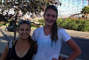 Katie Spieler, left, and younger cousin Torrey Van Winden, right