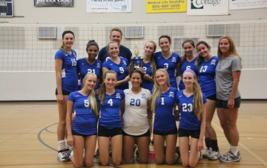 The  Cate girls volleyball team finished second in the gold division of the Laguna Blanca Invitational.