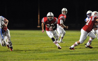 Jonathan Esqueda, the leading rusher on the Carpinteria High football team, was seriously injured in a car accident on Saturday night.