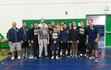 Dos Pueblos' wrestling team at the Nogales Super Championships