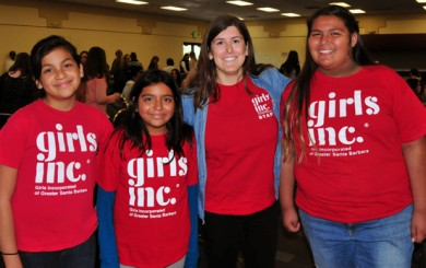 Members of Girls Inc. attending Monday's SBART Women and Girls in Sports Luncheon at Earl Warren Showgrounds.