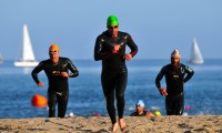 The weekly Nite Moves event includes a 5k run and a 1k ocean swim