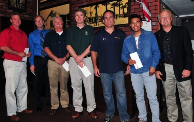 Six coaches were recognized as Coaches of the Year. They are, from left,