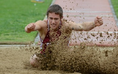 Chico State's J. Patrick Smith is a three-time national champion in the decathlon.