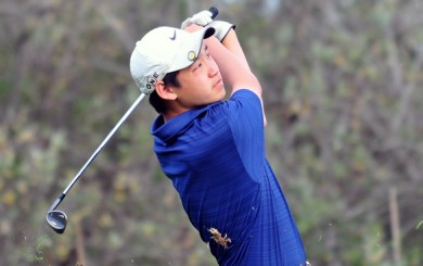 Dos Pueblos' Michael Nam leads all golfers at the Channel League Inidvidual Golf Tournament.