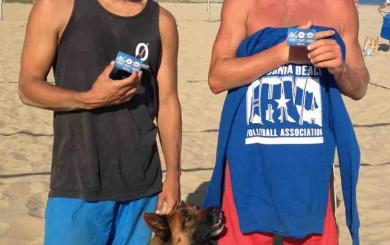 East Beach locals Arri Jeschke, left, and George Richardson won the CBVA Santa Barbara Men's B Tournament.