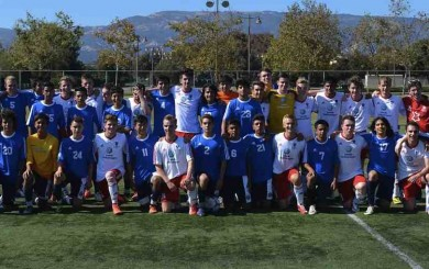 The boys soccer teams from San Marcos High and Grammar High of Leeds, England played an international friendly game at Girsh Park.
