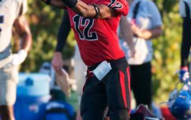 Elijah King caught 14 passes for SBCC in the win over Hancock.