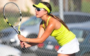 Marianna Alevra, pictured, partnered with Lexy Guilden to win two sets on Tuesday. (Presidio Sports Photos)