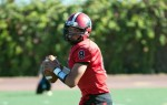 SBCC quarterback Brandon Edwards threw three touchdown passes in the first half.