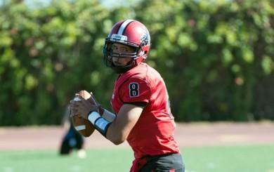 SBCC quarterback Brandon Edwards threw three touchdown passes in the first half.