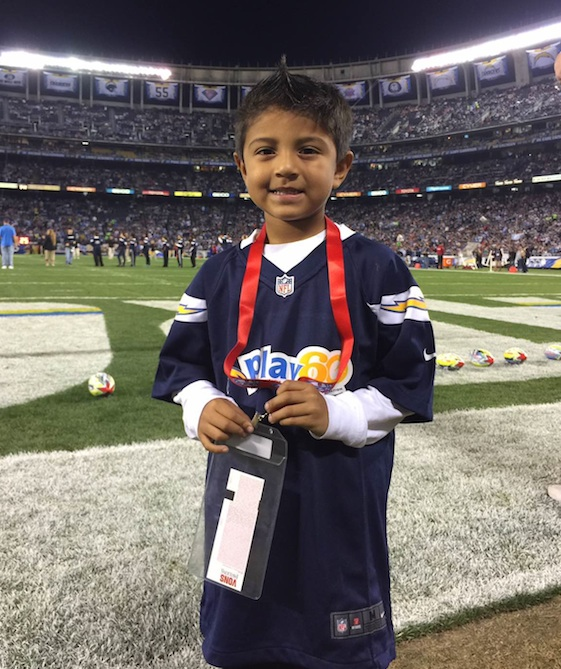 Chargers New Stadium: Pablo Desales Competes In PP&K At San Diego Chargers